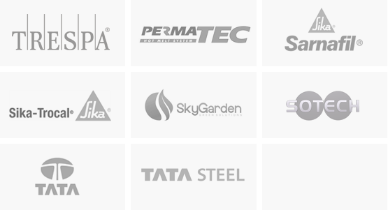 Product logos at Sage Roofing