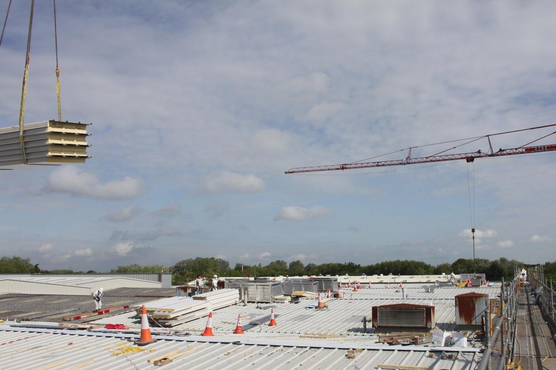 Roofing refurbishment in progress