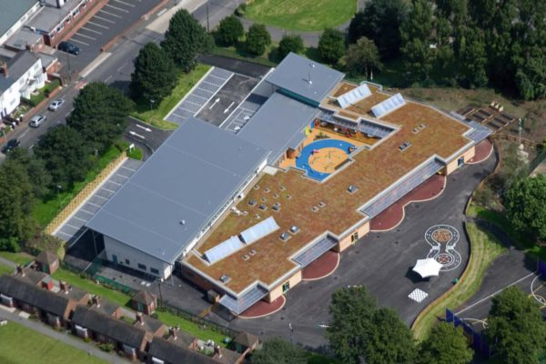 Sage Roofing installed a green roof at Crocketts Primary School