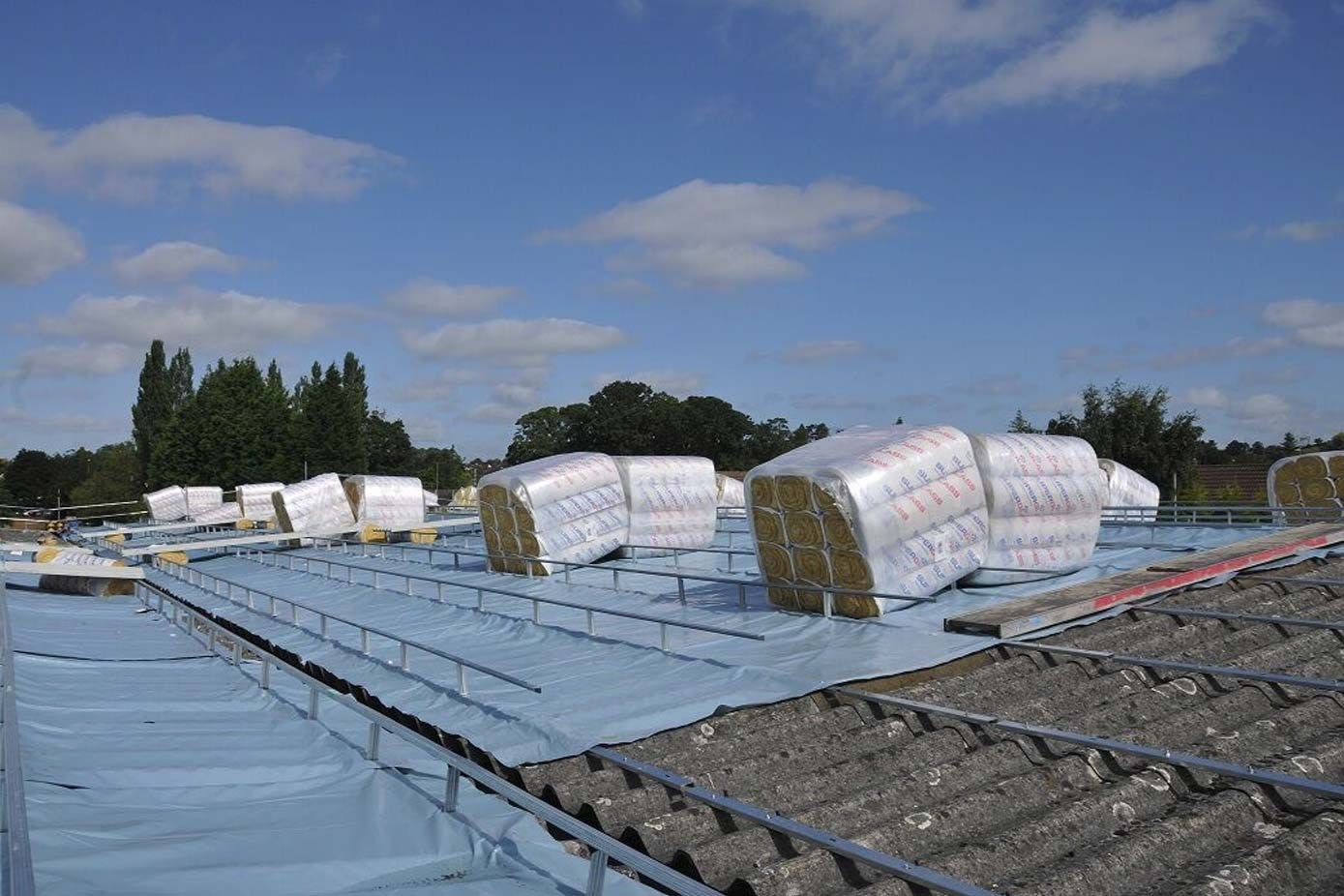 Roof refurbishment by Sage Roofing in progress