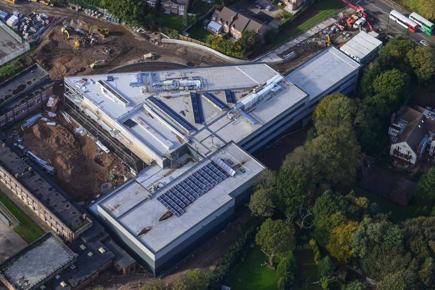 air view of harbourne academy