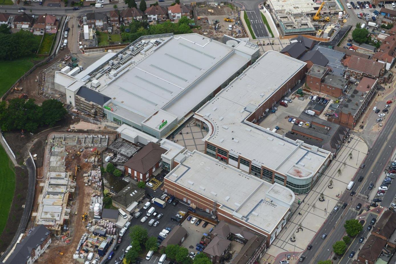 Parkgate Retail Centre exterior view of roof