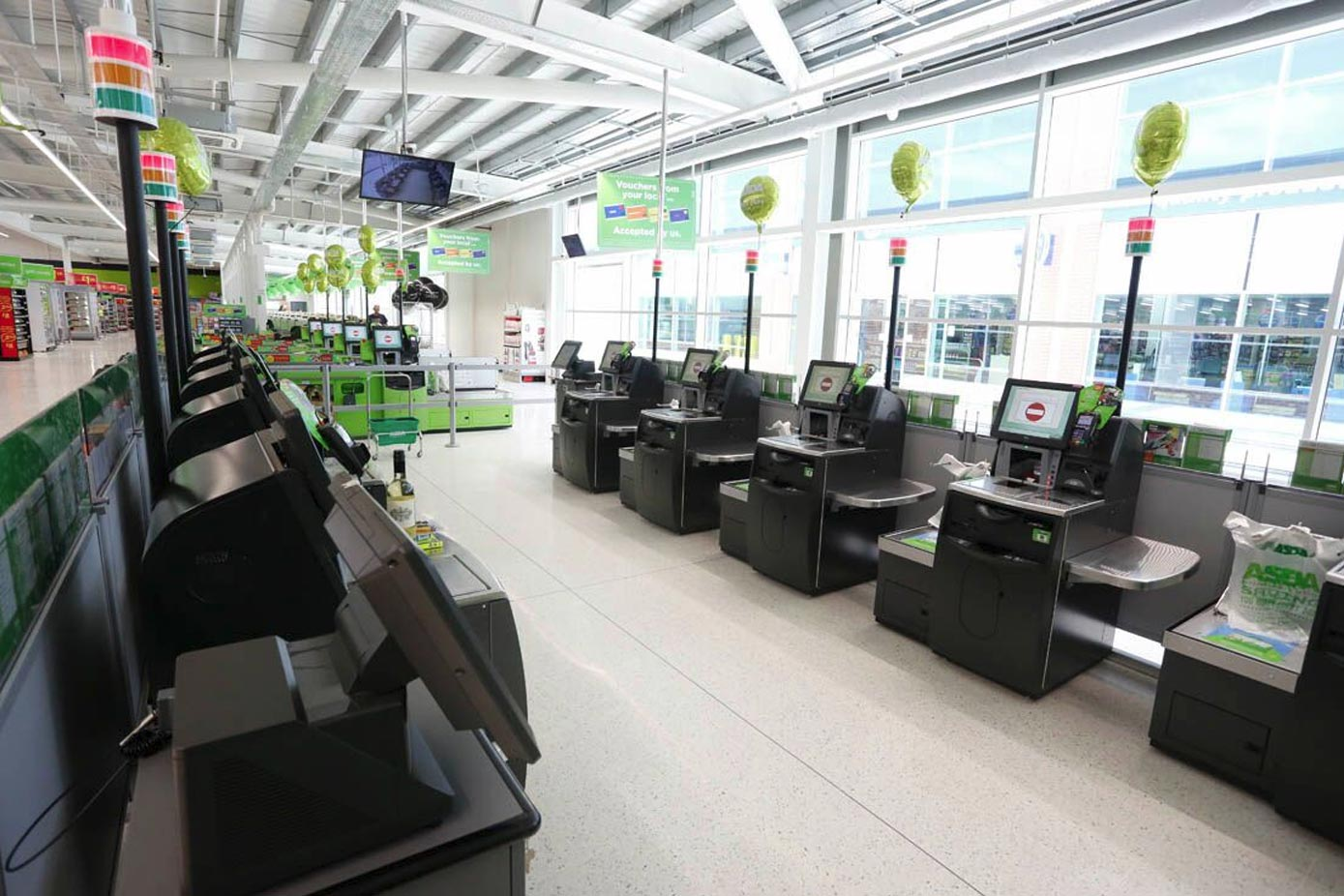 Inside Asda in Shirley
