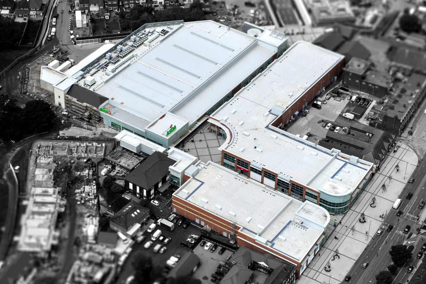 Parkgate Retail Centre in Shirley - commercial roof